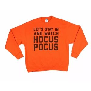 Let's Stay in and Watch Hocus Pocus Sweatshirt XL